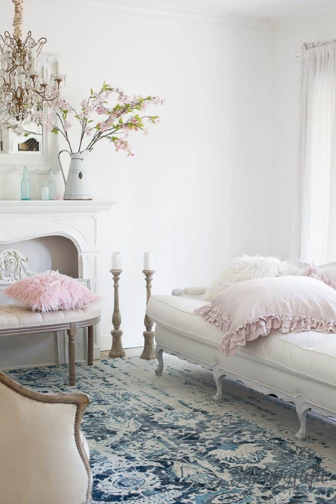 blush pink room decorating shabbyfufu.com