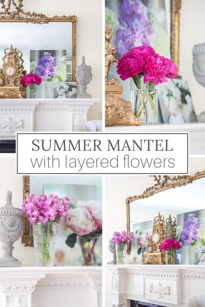 Summer mantel styling ideas