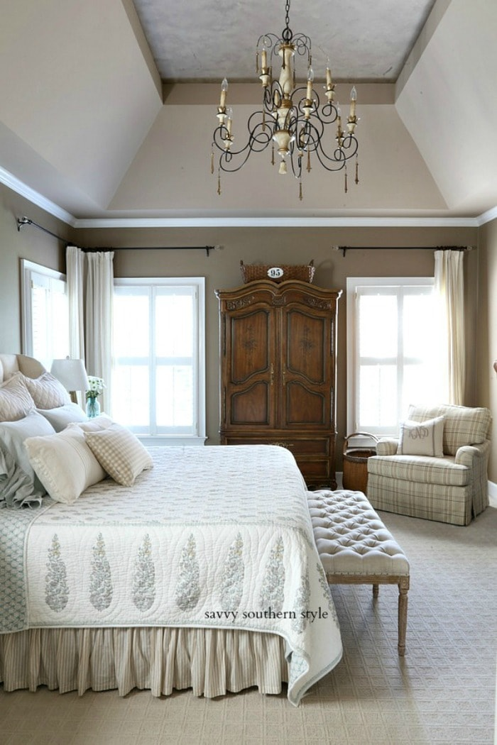 French country summer bedroom