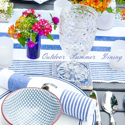 Home Style Saturdays 96 | Outdoor Dining, a Chair Makeover and More