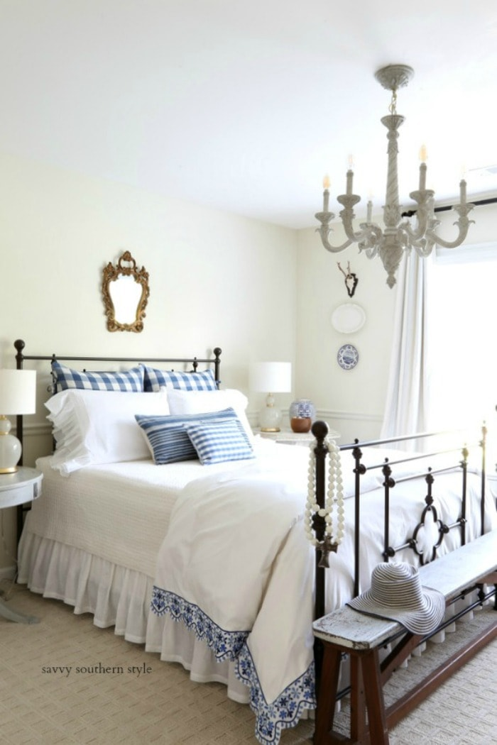 Summer French Style Guest Bedroom