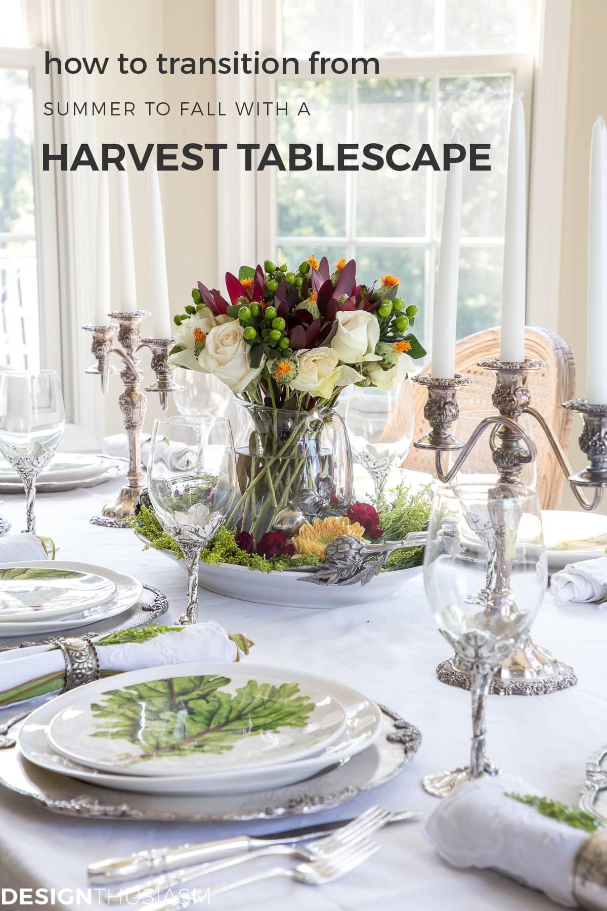 Grape Harvest Decor Fall Tablescape