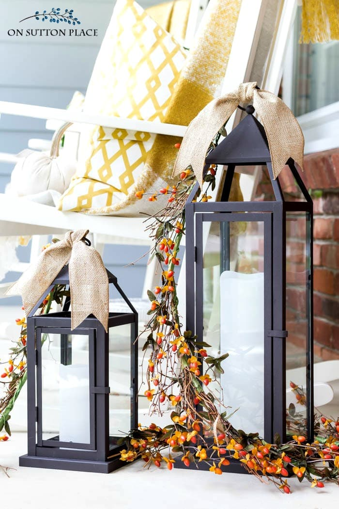 Fall Porch Decor from On Sutton Place
