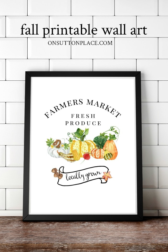 Fall Printable Wall Art from On Sutton Place
