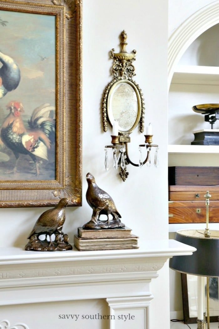French country fall mantel