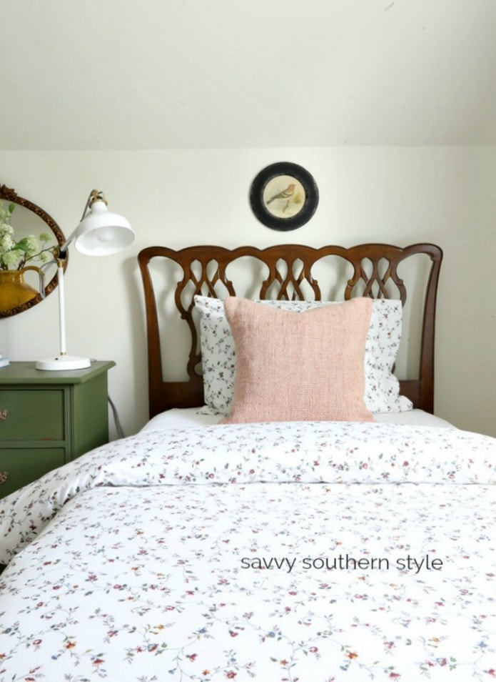 antique Chippendale twin bed