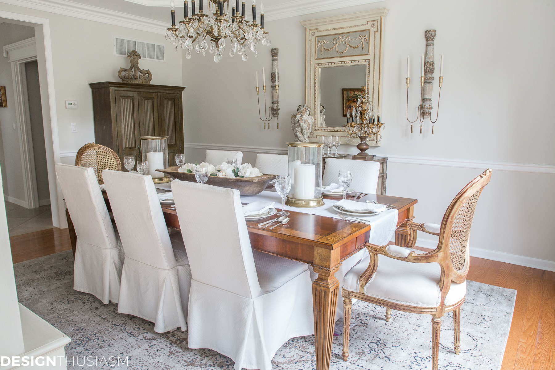 The evolution of a french country dining room from old school to modern