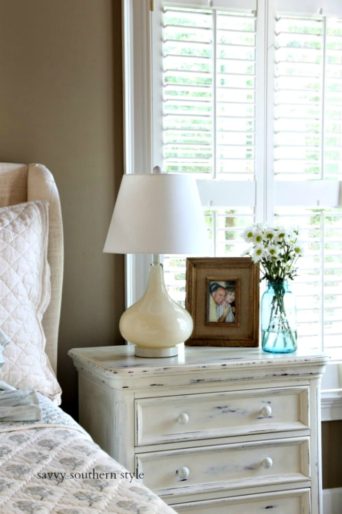 summer French country master bedroom