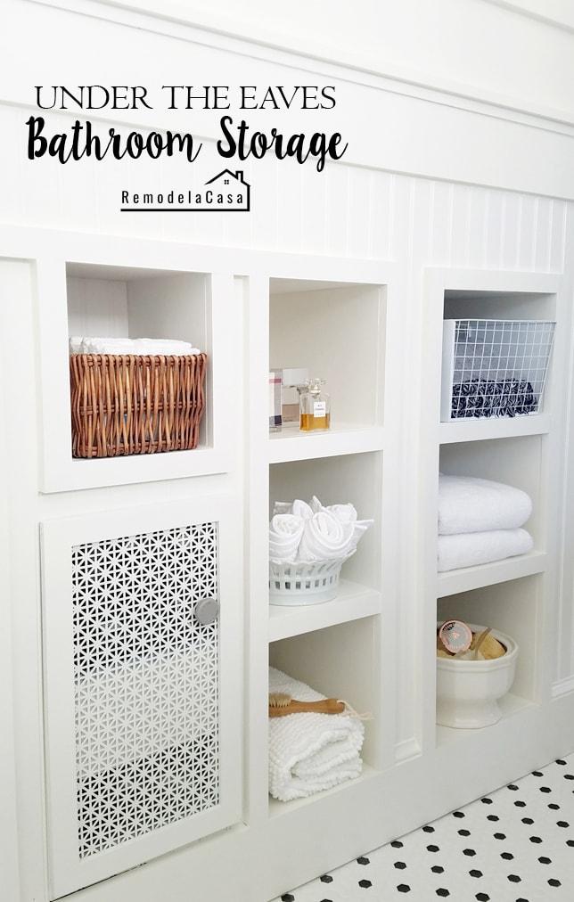 DIY - under the eaves shelves