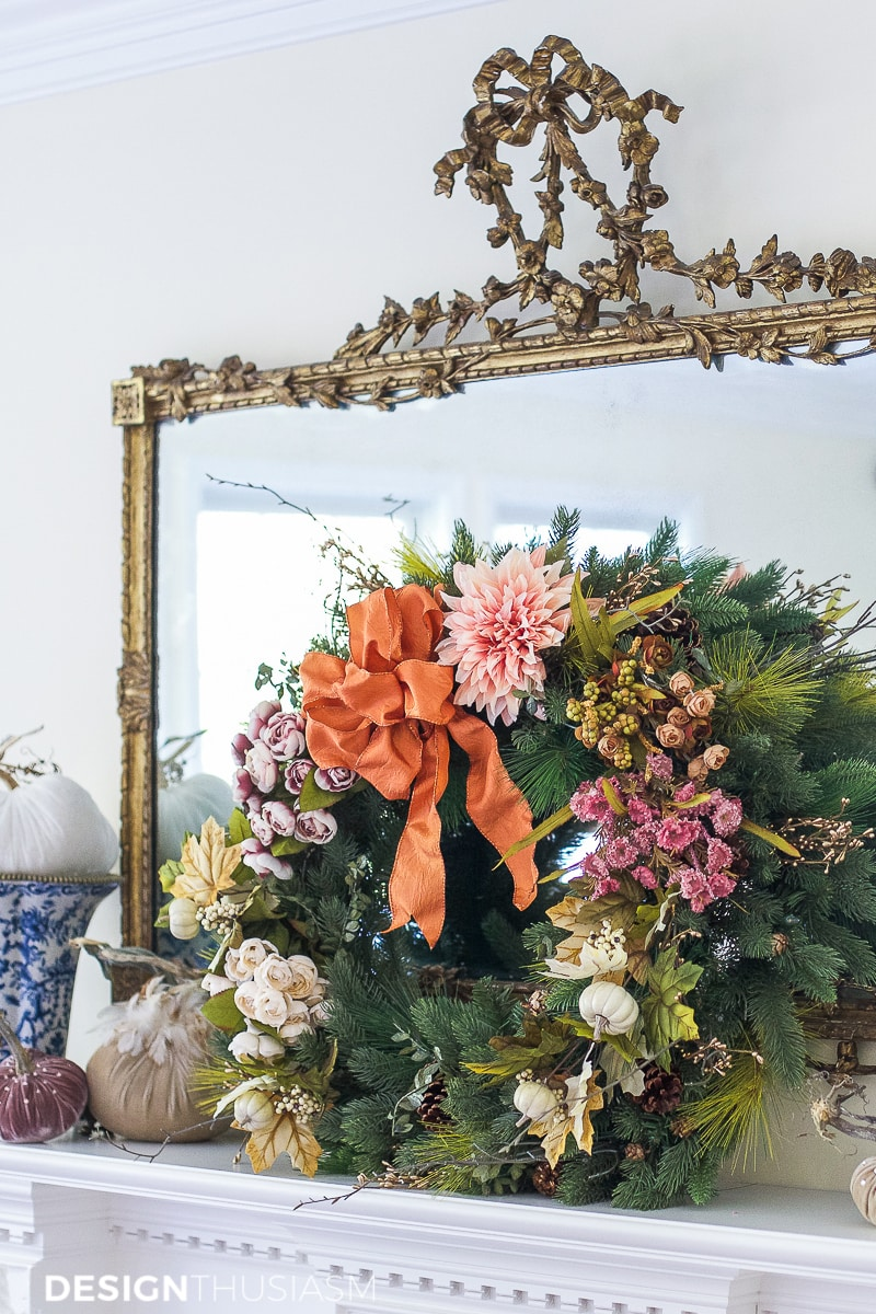 How to Repurpose Your Holiday Decor into a Fall Wreath and Garland