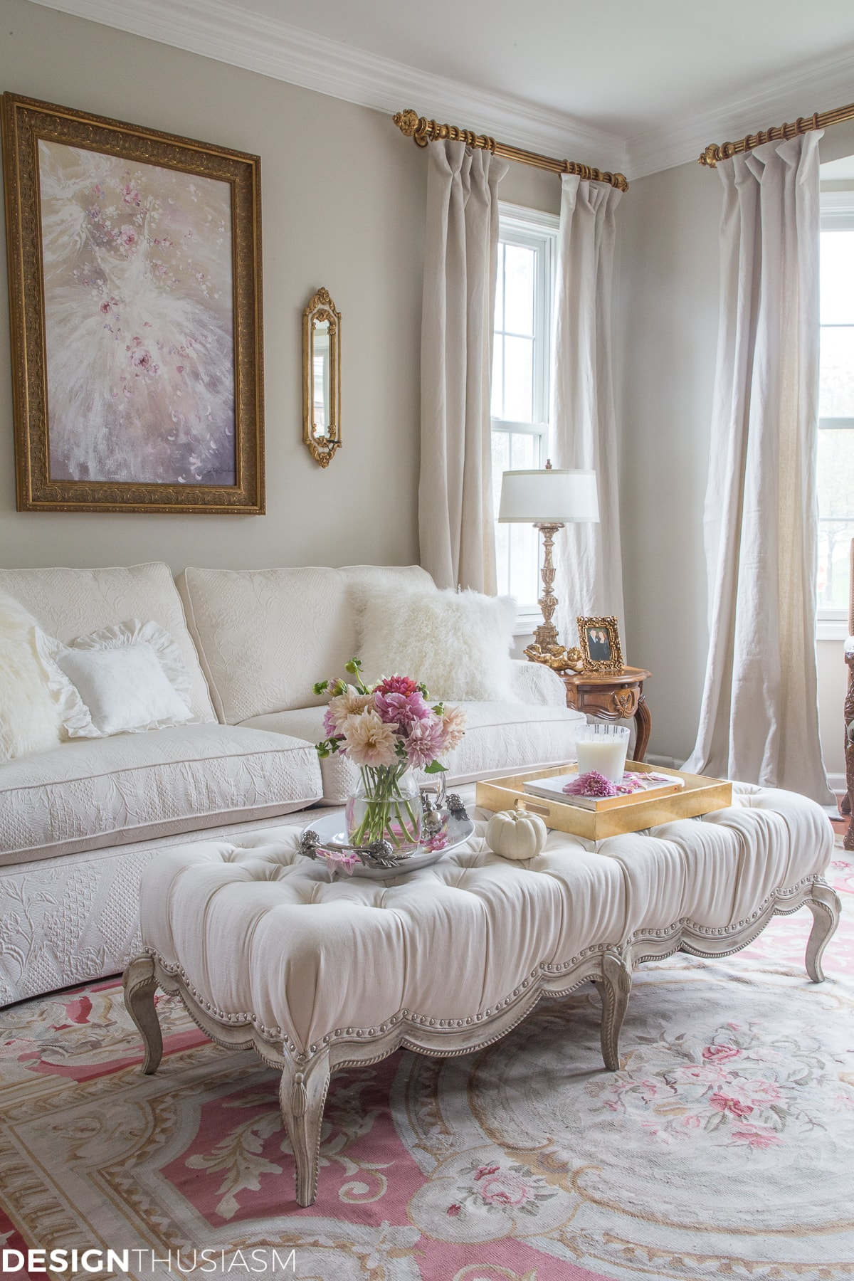 interesting french style white living room | How I Modernized My French Style Living Room with 4 Simple ...