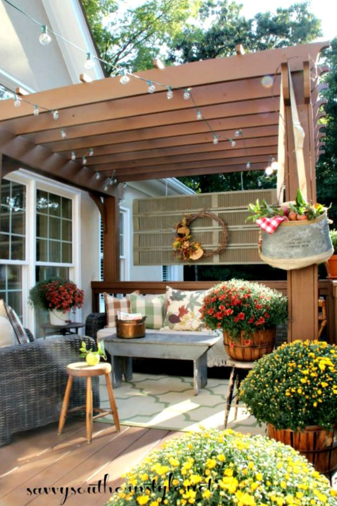 savvy southern style fall deck