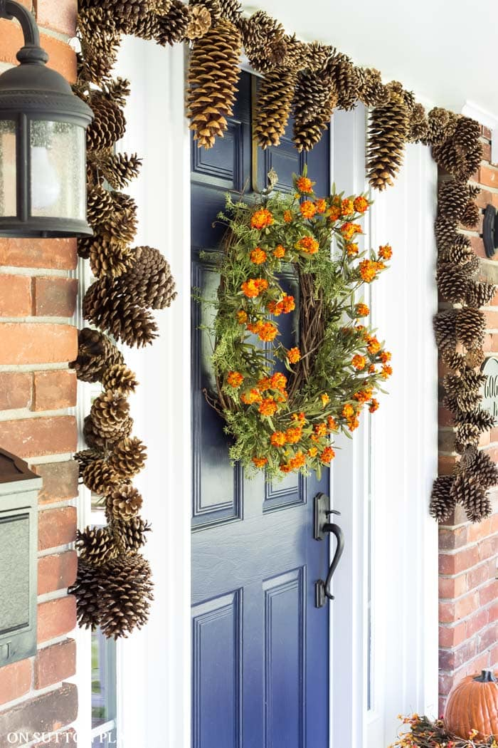 DIY Pinecone Garland from On Sutton Place