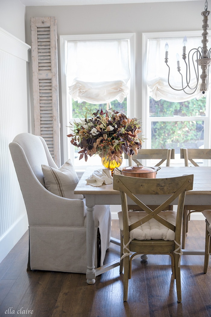 Ella Claire white neutral table setting.