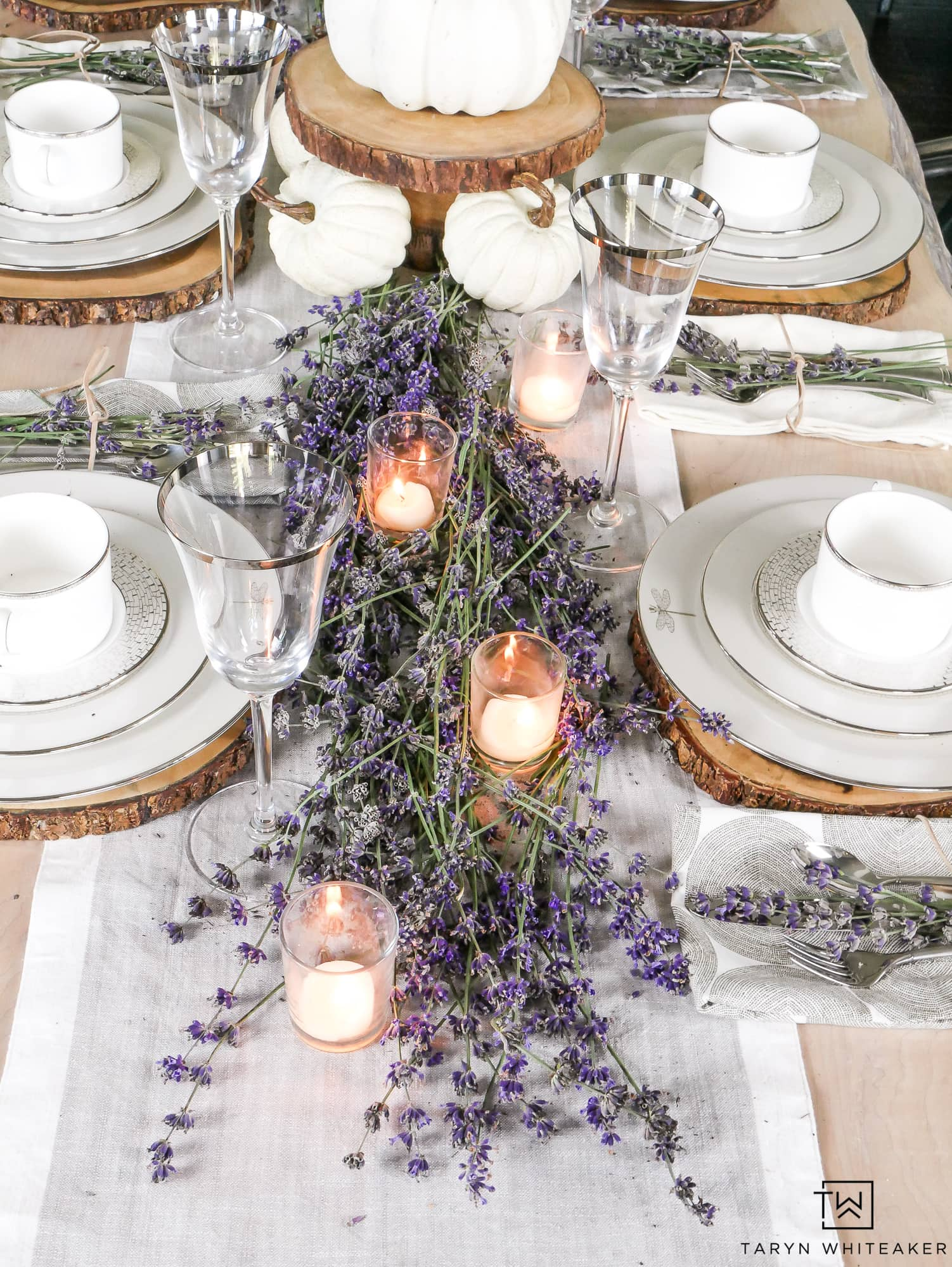 Lavendar Fall Table