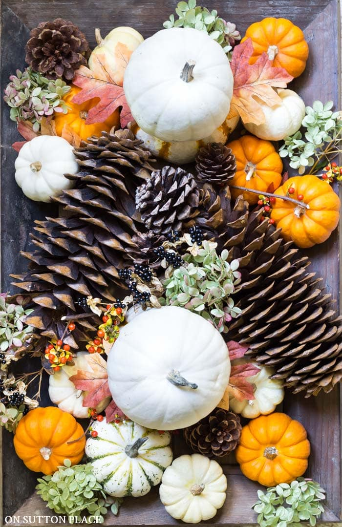 Natural Fall Centerpiece Ideas from On Sutton Place