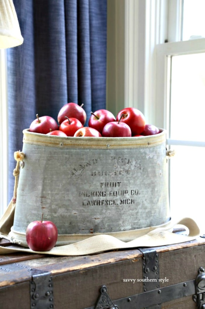 vintage fruit picking bucket savvysouthernstyle.net