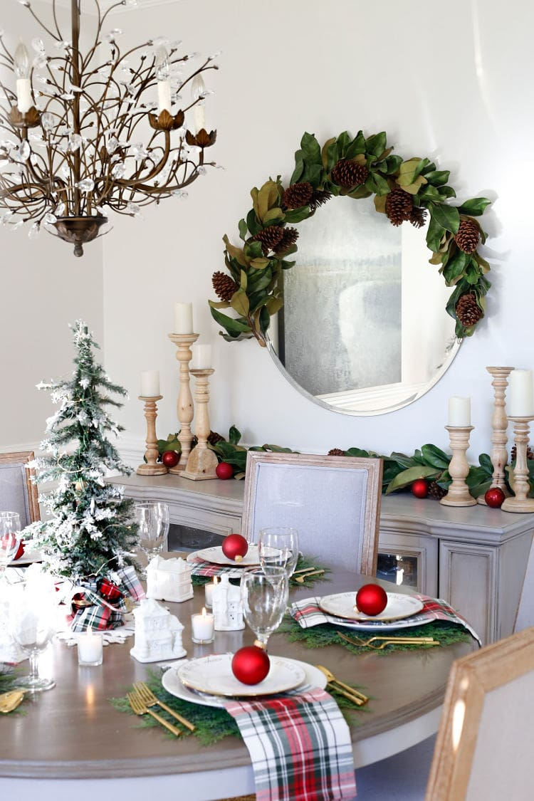 Christmas Village Table Setting