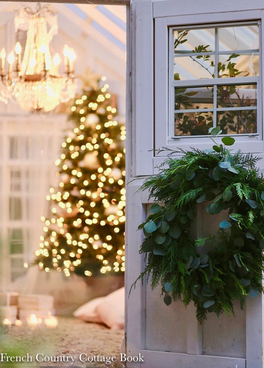 Christmas greenhouse, vintage holiday