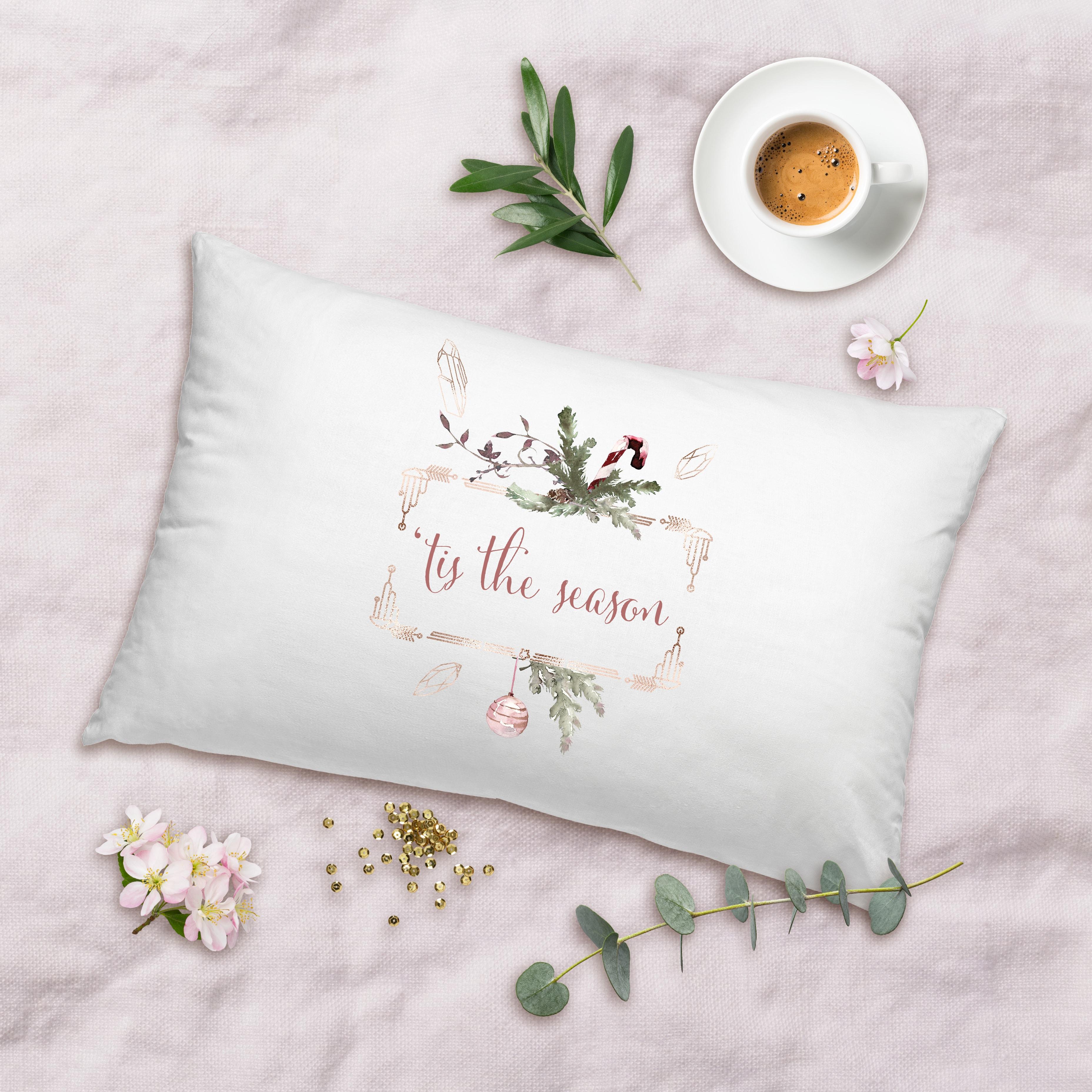 Posh Cottage Shop Lumbar White Pillow Cover