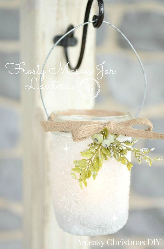FROSTY-MASON-JAR-LANTERNS-so-sweet-and-easy-to-make-perfect-for-Christmas-stonegableblog.com