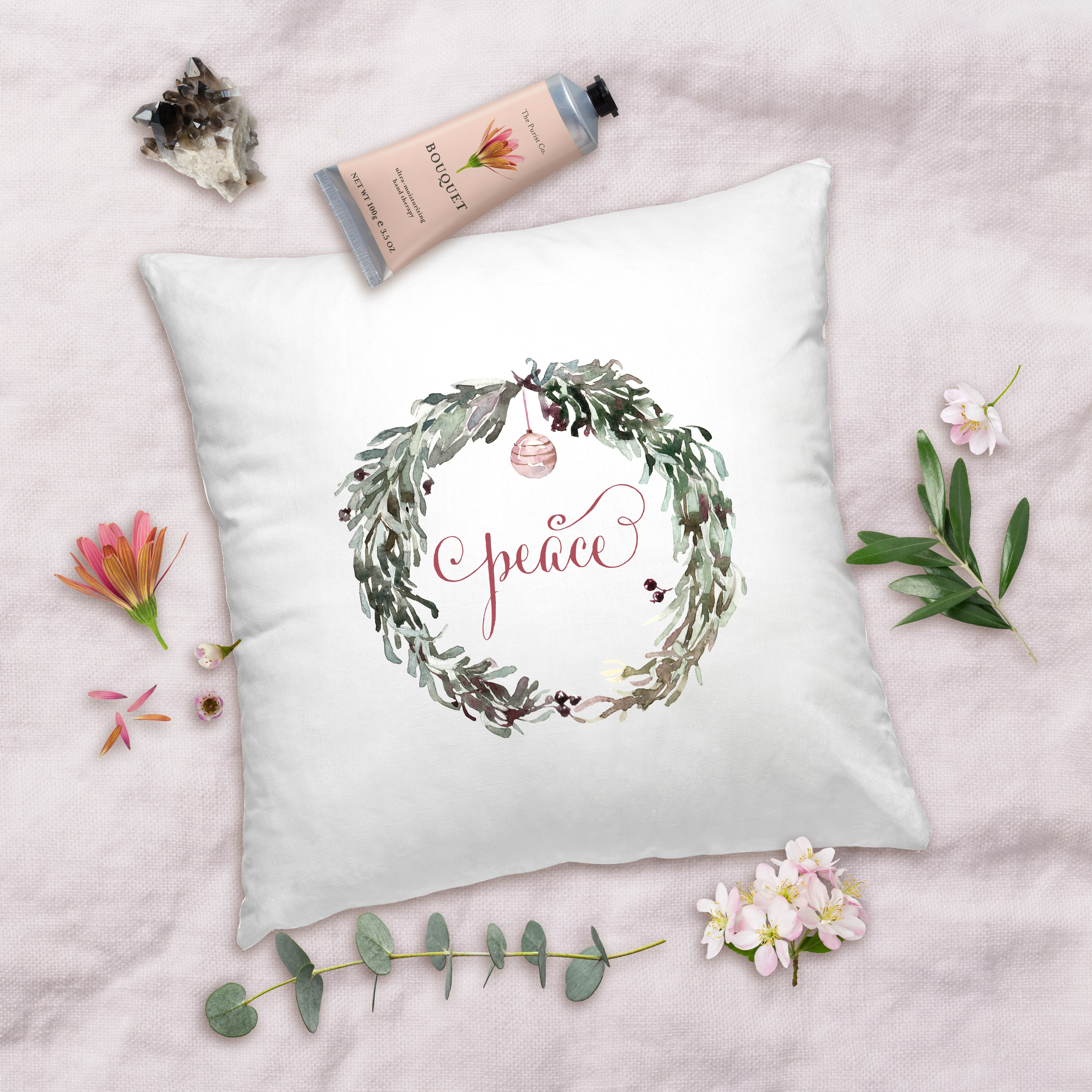 Posh Cottage Shop 18inch White Pillow Cover