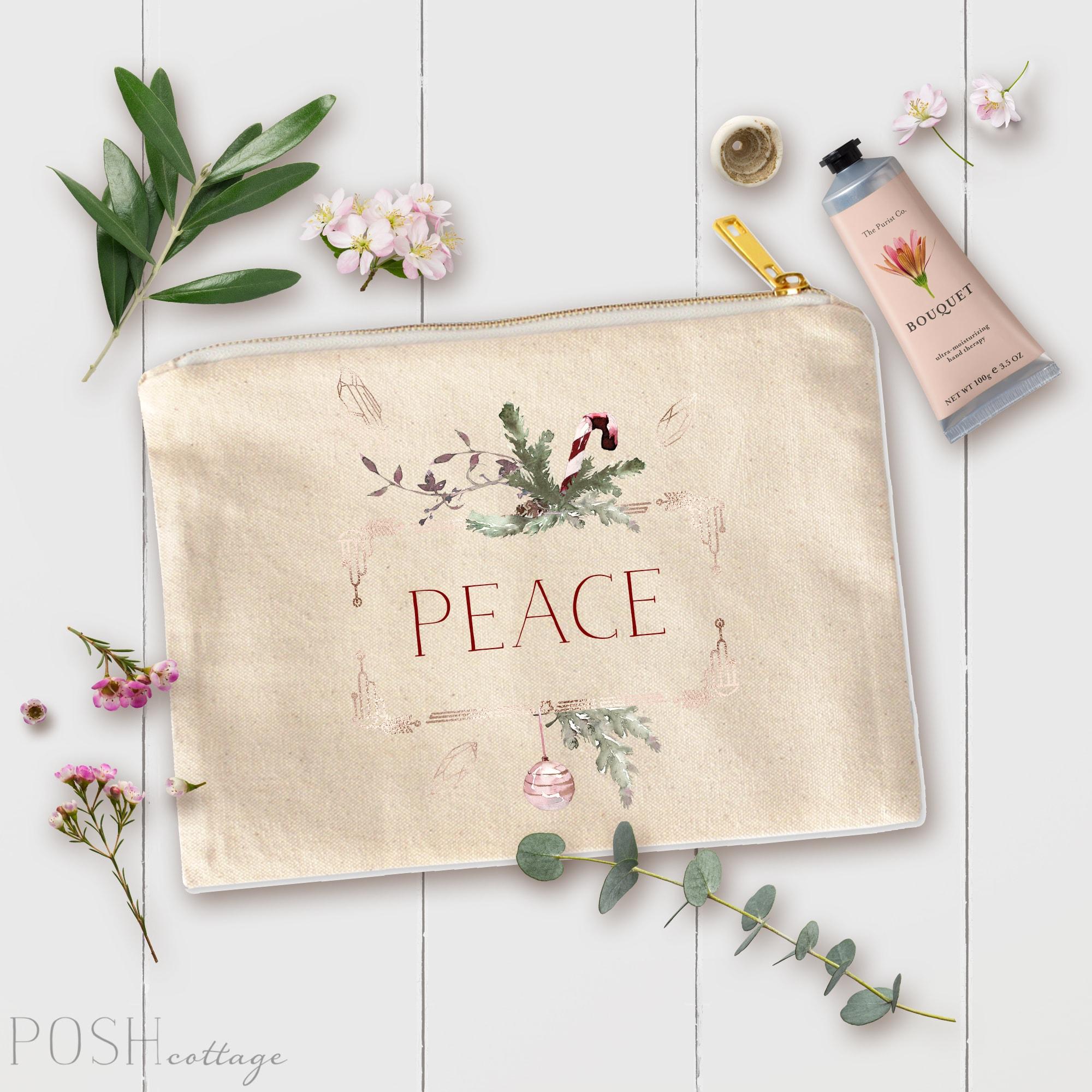 Posh Cottage Shop Canvas Cosmetic Bag