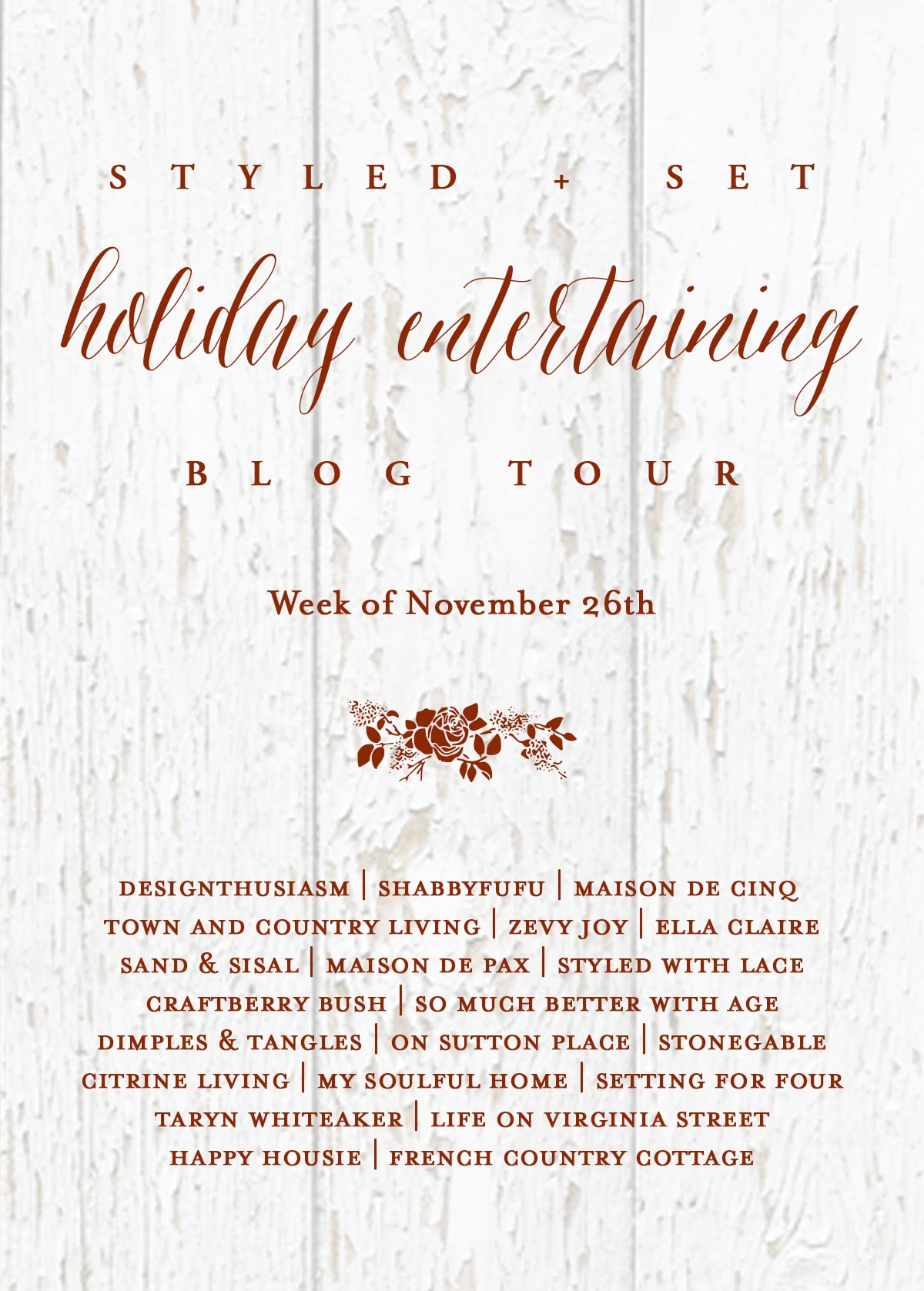 See 21 design blogger's Christmas homes and entertaining ideas in this Styled & Set Holiday Entertaining Blog tour! #christmas #christmasdecor #holidaydecor #entertaining #blogger #hometour #xmasdecor
