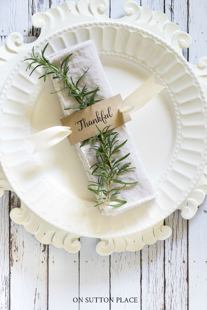 Thanksgiving Printable Napkin Rings from On Sutton Place