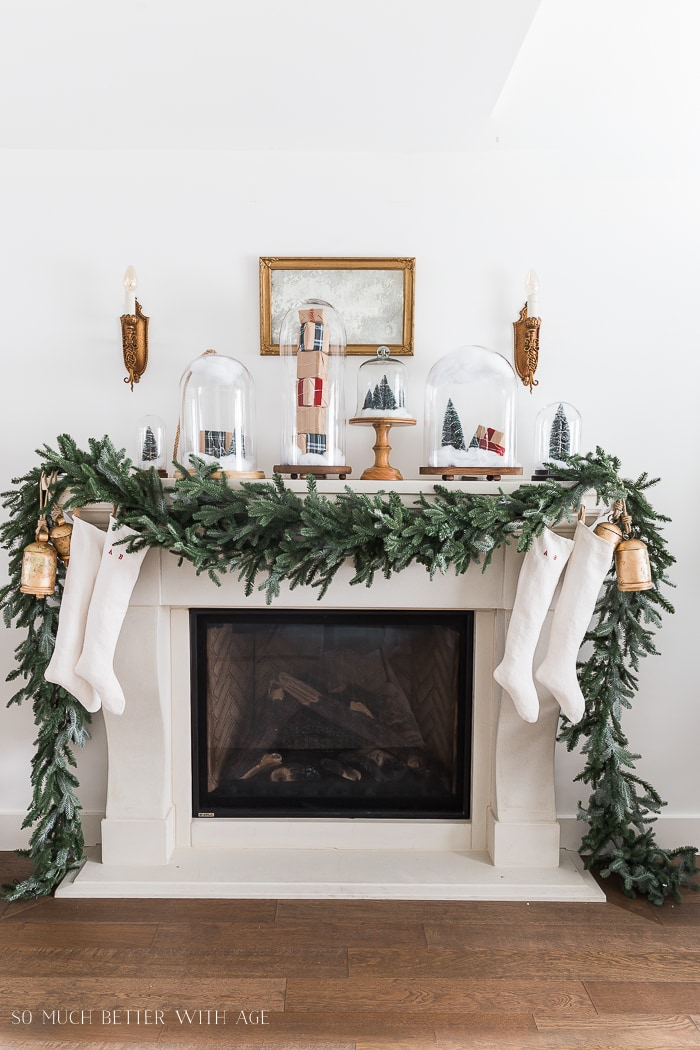 Home style saturdays christmas decor galore on sutton - Modern christmas mantel ideas ...