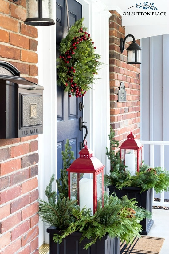 easy christmas porch decor winter planters