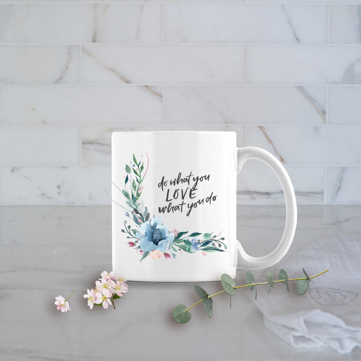 Posh Cottage Shop Winter 19 Do What You Love white 11oz mug