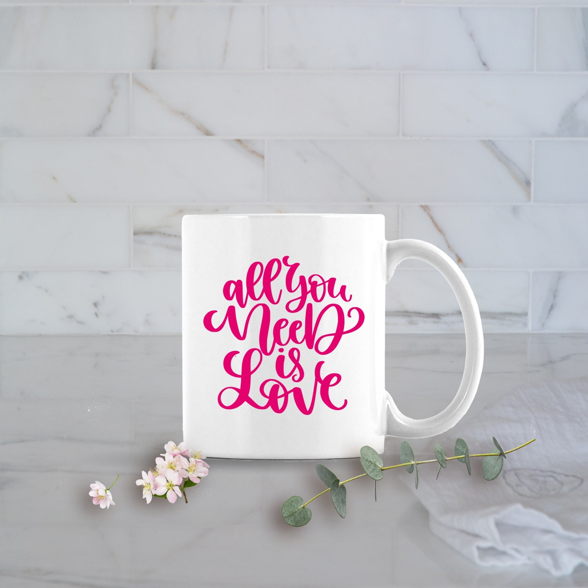 Valentines Day Gifts 11oz All You Need is Love mug