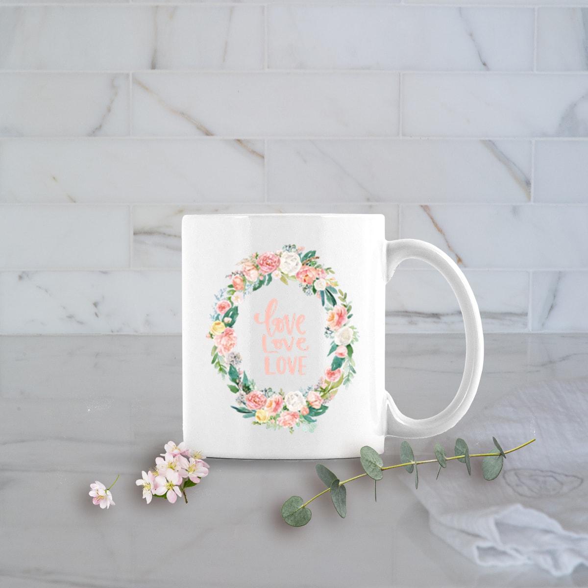 Valentines Day Gifts 11oz Love Love Love mug