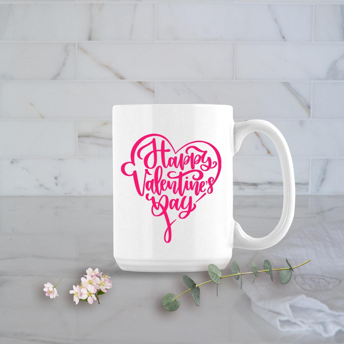 Valentines Day Gifts 15oz Happy Valentines Day Mug