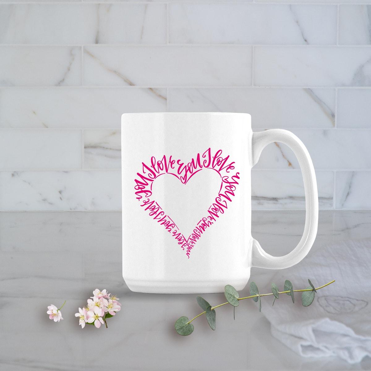 Valentines Day Gifts 15oz I Love You Heart Mug