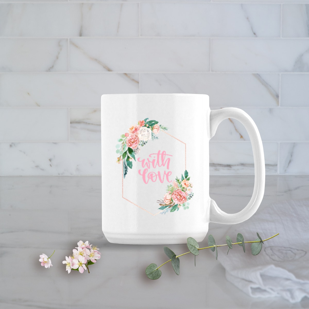 Valentines Day Gifts 15oz With Love Mug
