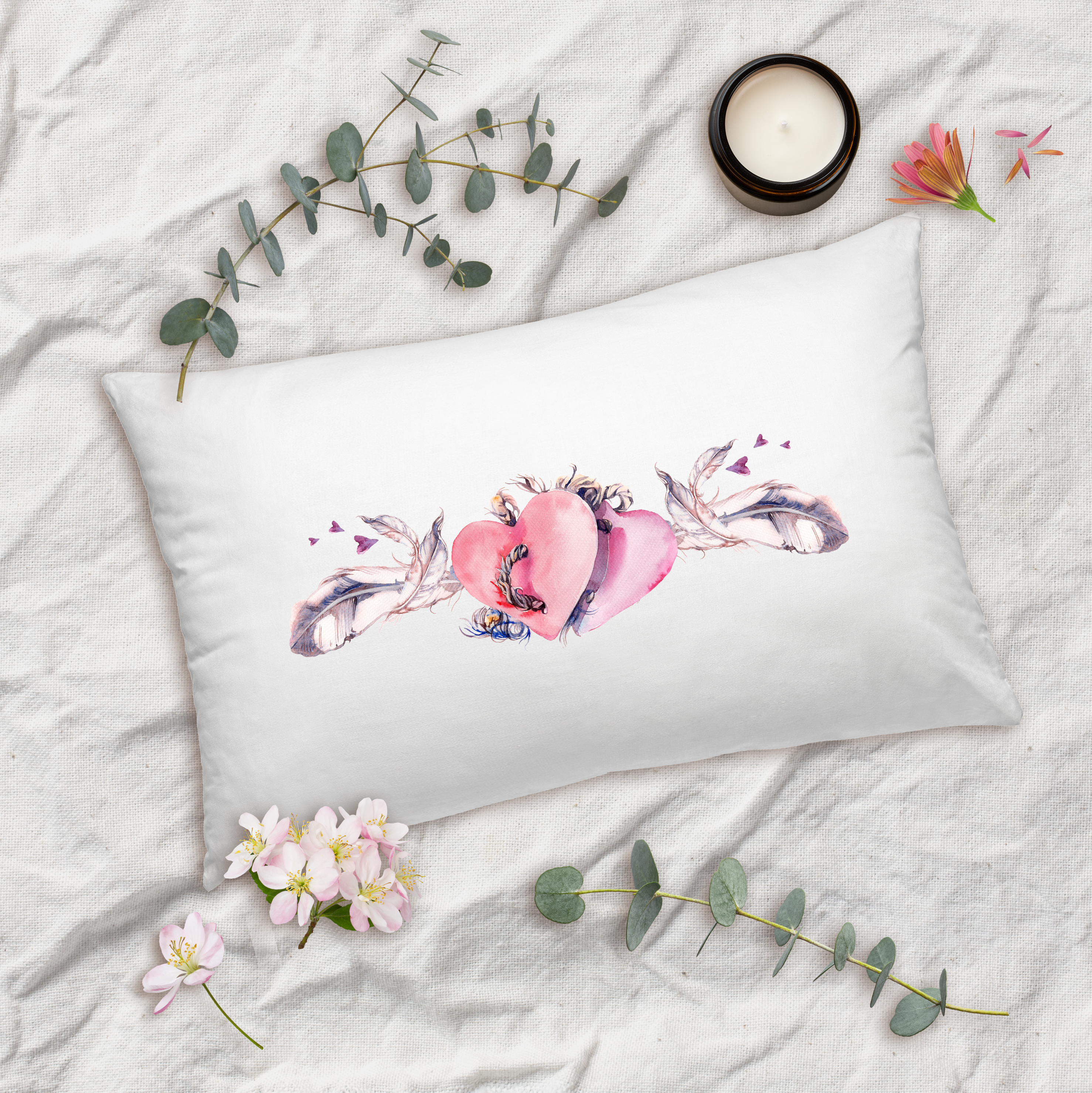 Valentines Day Gifts 2 Hearts Pillow