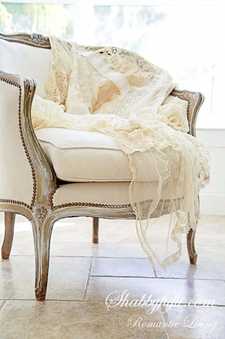 romantic French lace throw
