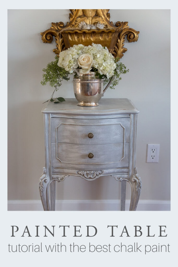 chalk painted table