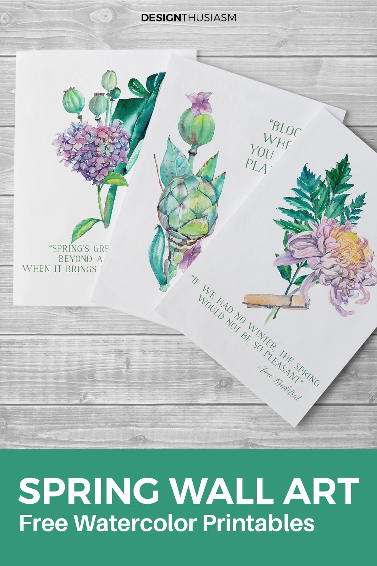 Spring wall art printable
