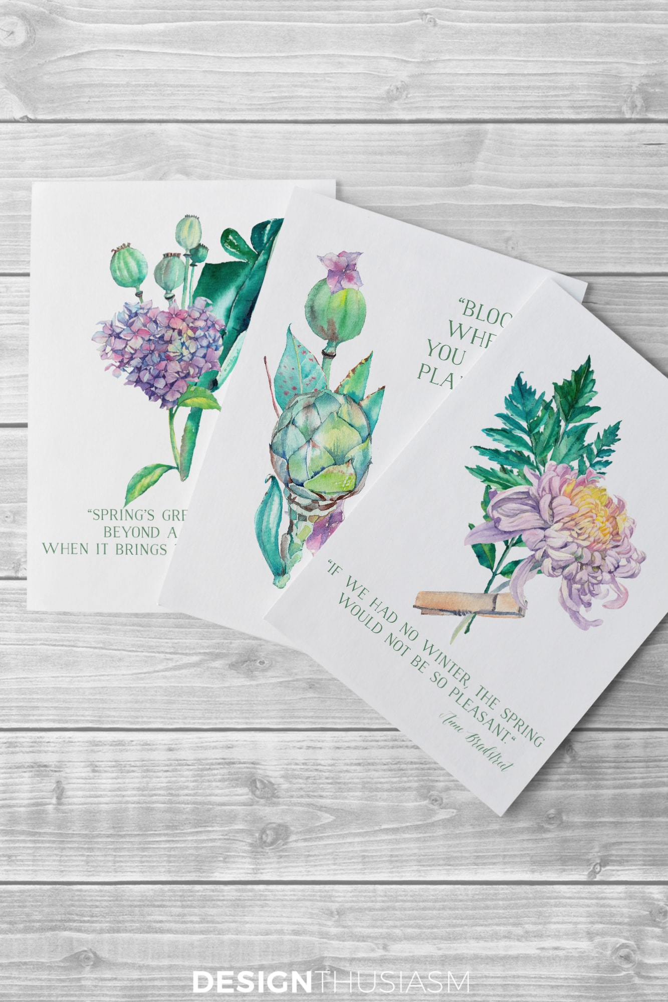photo regarding Free Printable Decor known as No cost Printable Artwork for Spring: Watercolor Bouquets for Do it yourself
