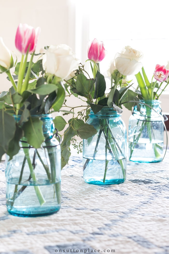 Decorating with Mason Jars from On Sutton Place