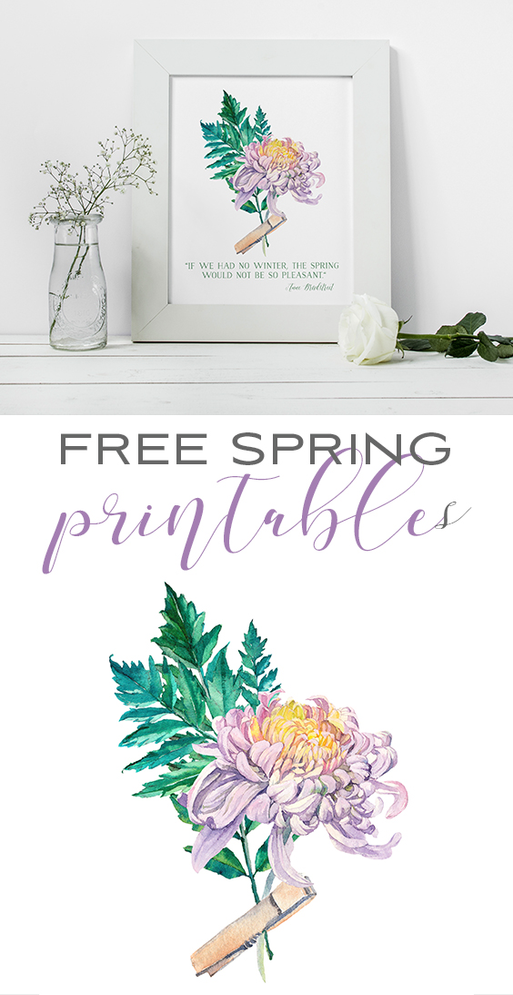 Free Printable Art for Spring: Watercolor Flowers for DIY Wall Decor