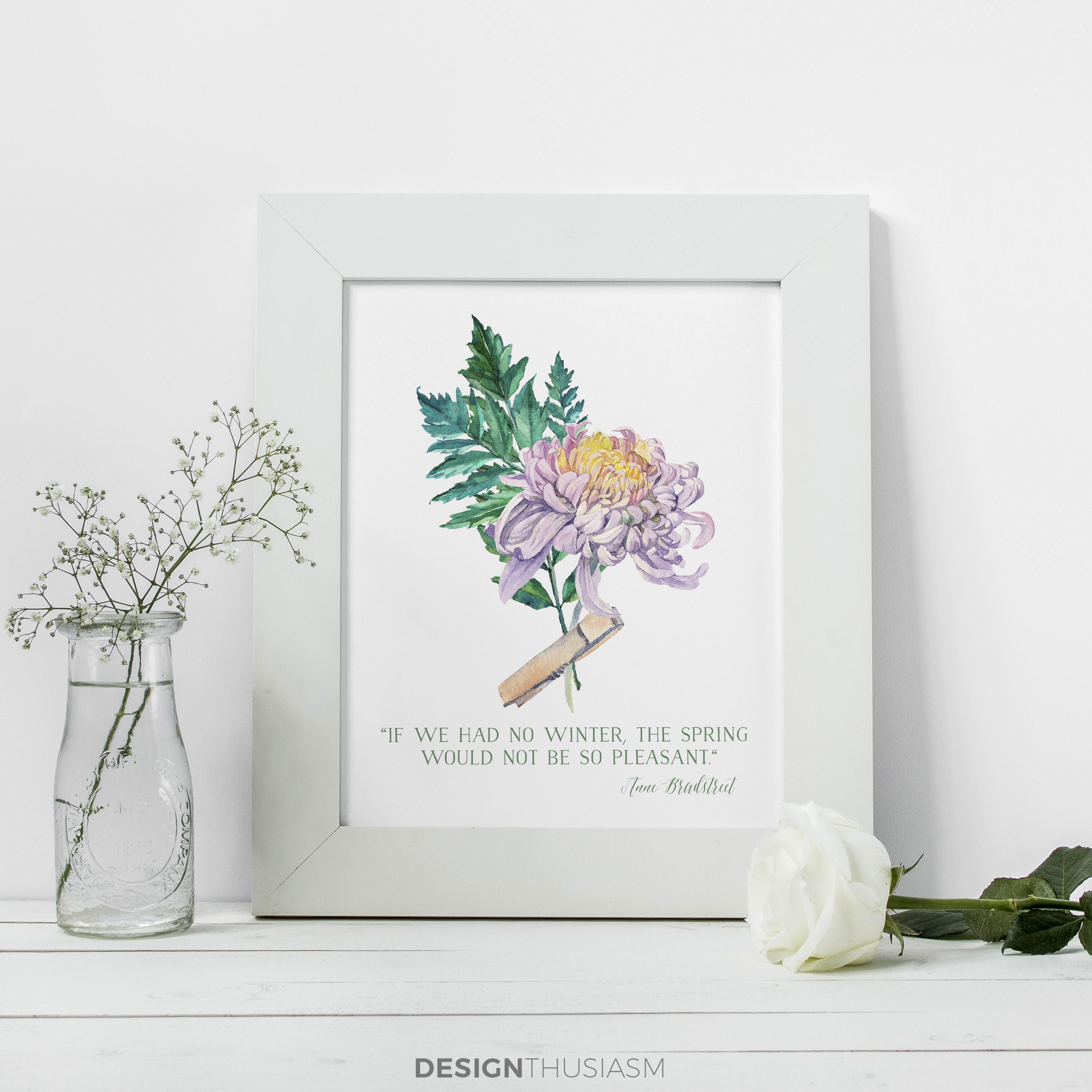 photograph regarding Free Printable Wall Art Flowers identified as No cost Printable Artwork for Spring: Watercolor Bouquets for Do it yourself
