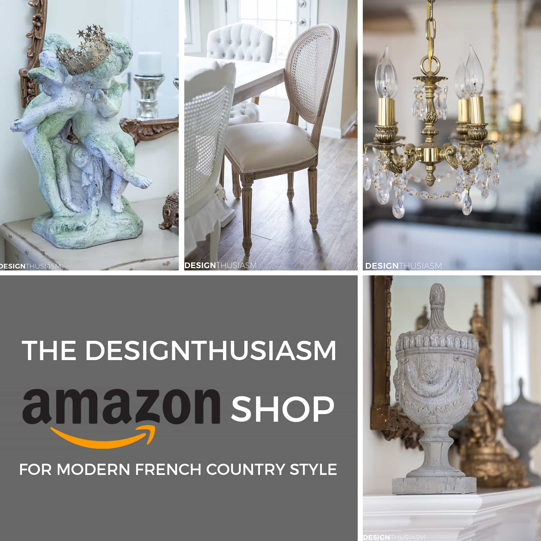 The Designthusiasm Amazon Shop for Modern French Country Style