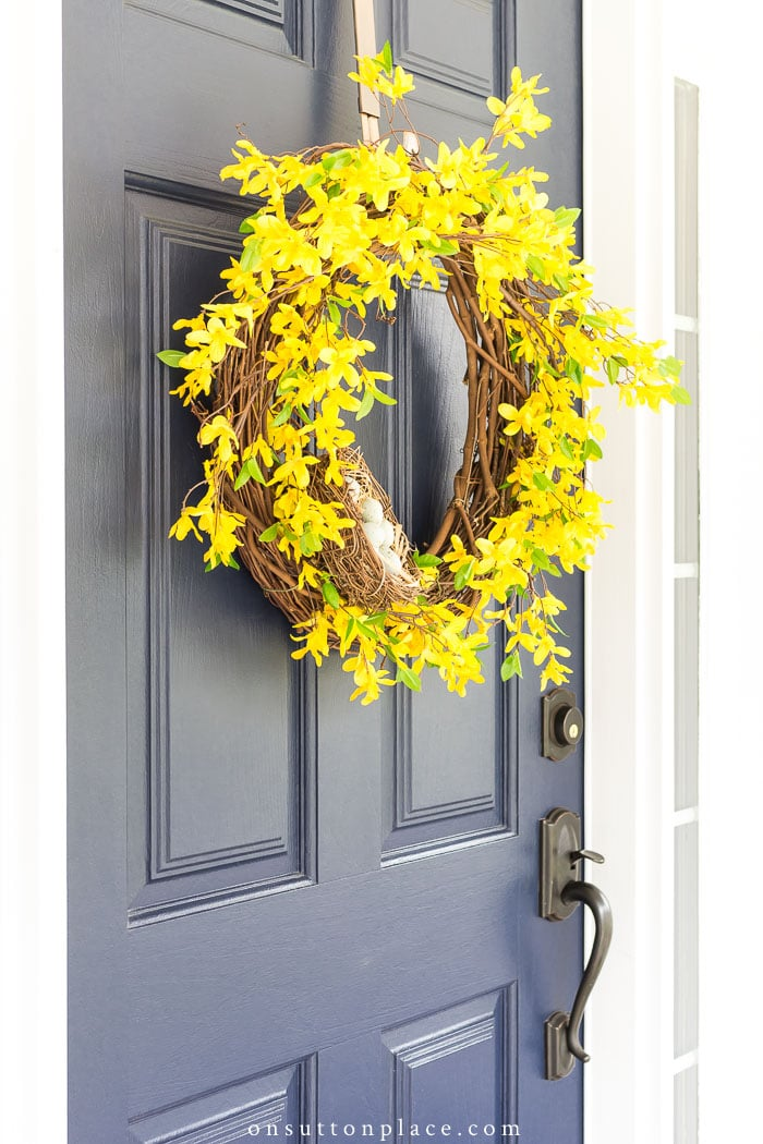 Spring Forsythia Wreath from On Sutton Place