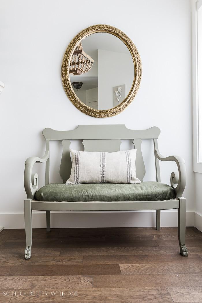 settee-makeover-green-velvet-upholstered