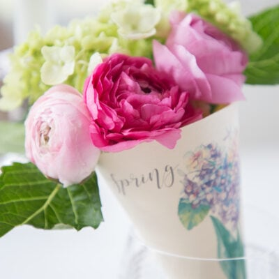 Spring Printable: How to Make a Paper Cone Posy