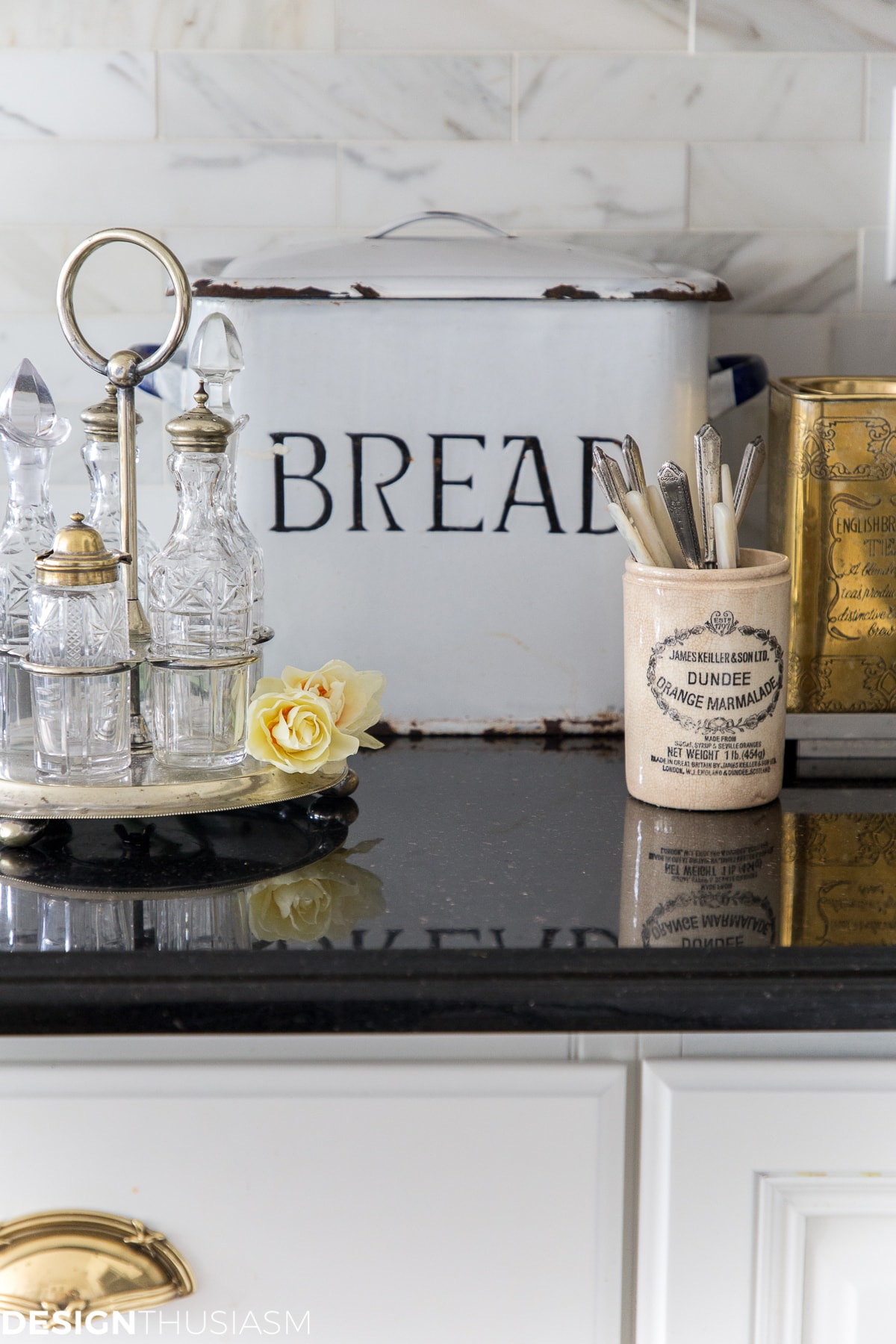 vintage bread box for kitchen counter organization